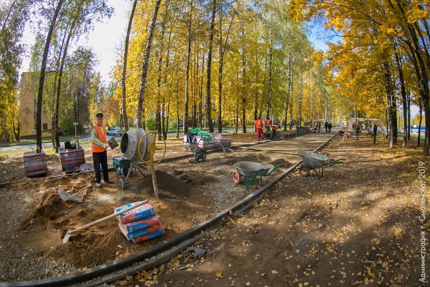 Продолжается благоустройство бульвара «60 лет ВЛКСМ»